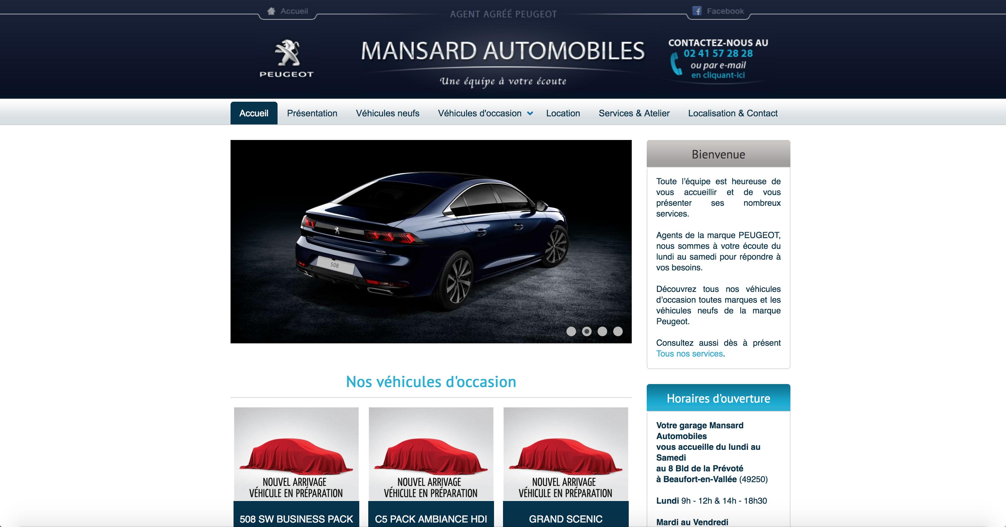 Page d'accueil Mansard Automobiles