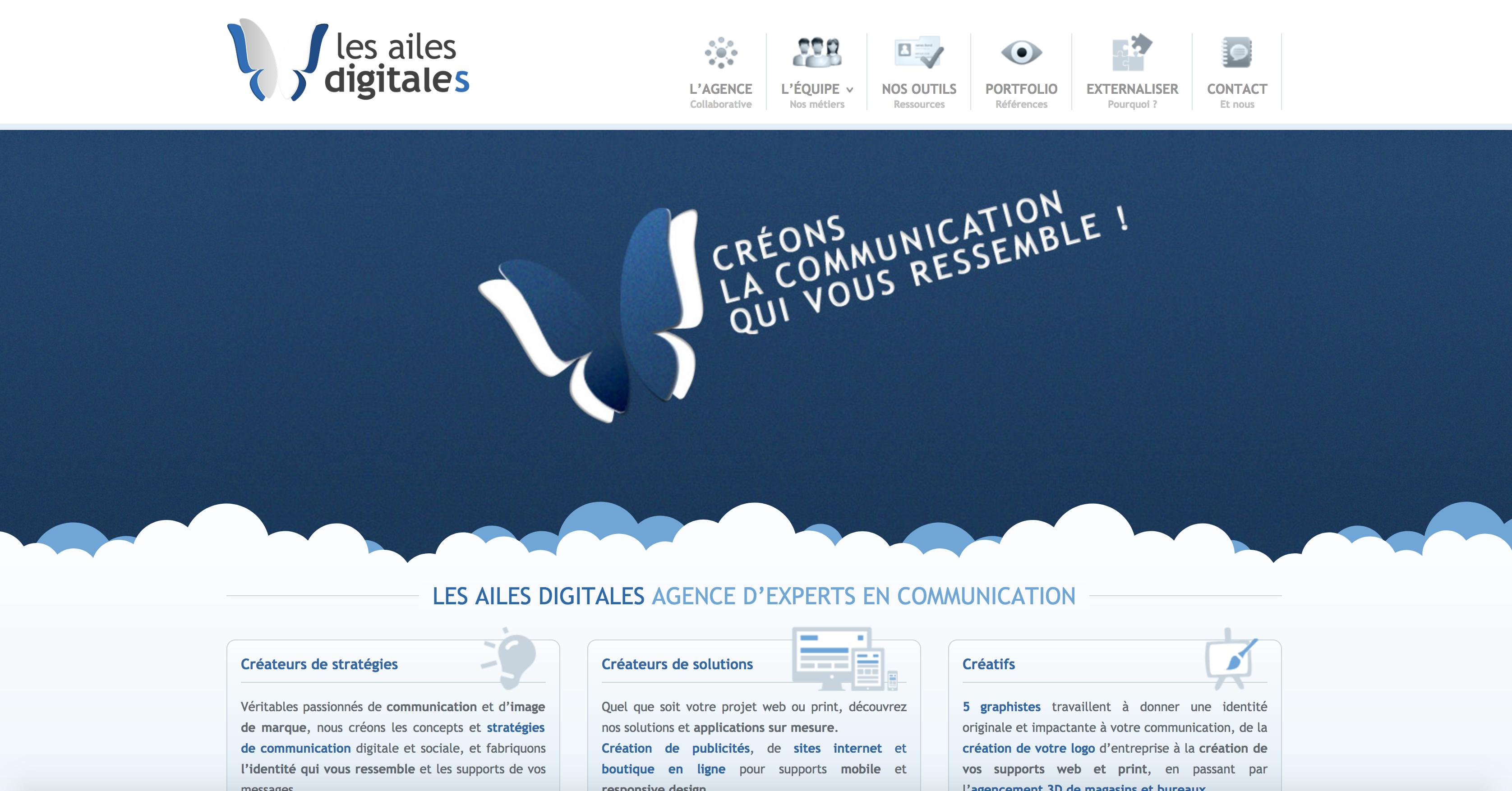 Page d'accueil Les Ailes digitales