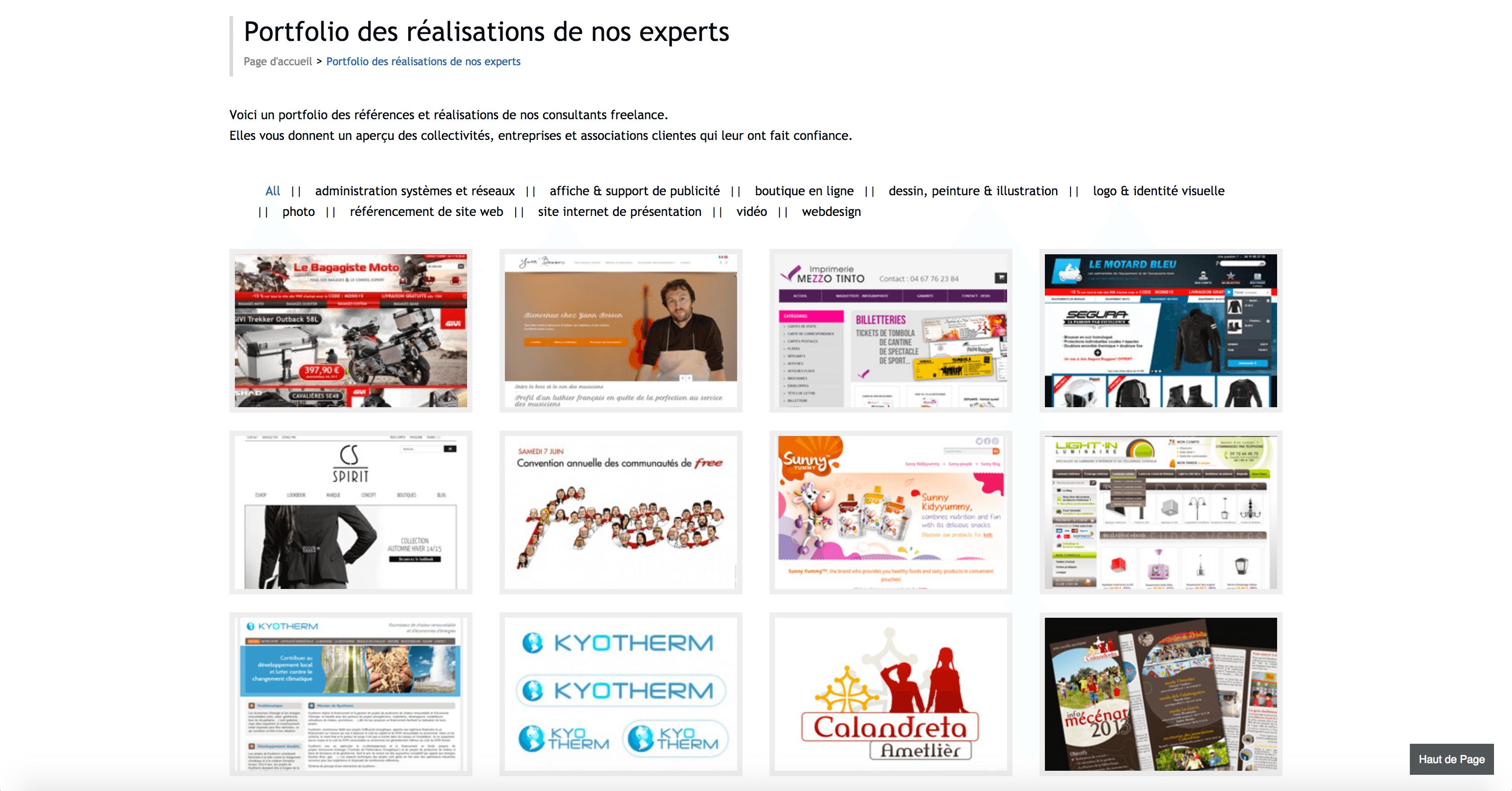 Réalisations des experts Un collectif d'experts Les Ailes digitales
